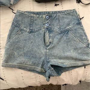 High waisted slim short from urban outfitters.